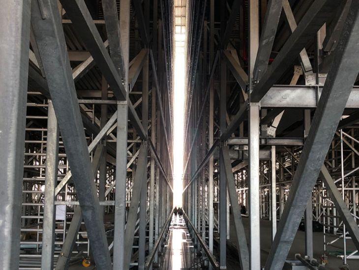 Baufortschritt Logistikzentrum
